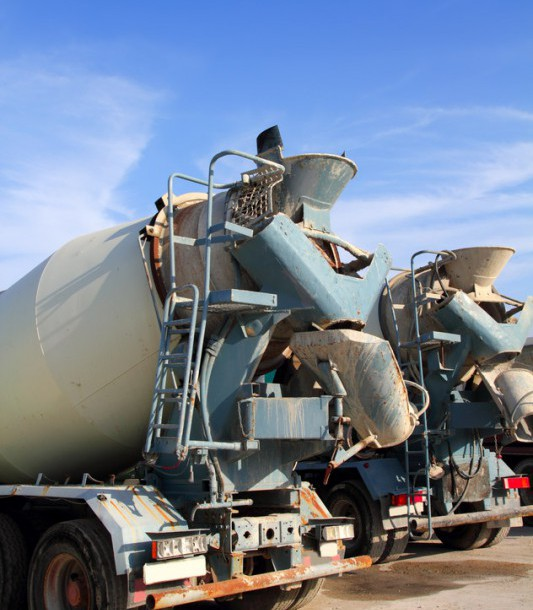 concrete-mixer-two-trucks-rear-view-grunge-s