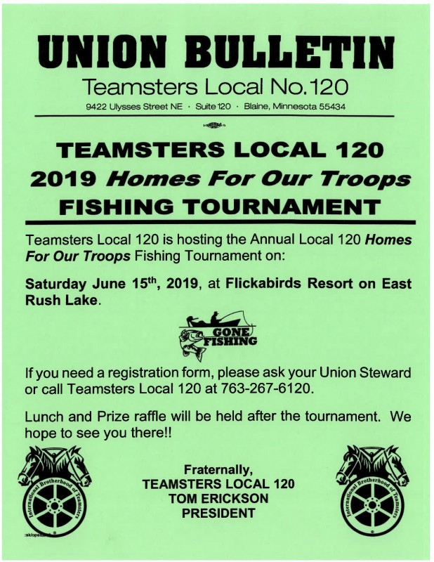 Teamsters Local 120 Homes For Our Troops Fishing Tournament